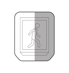 Pedestrian road sign vector
