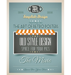 Vintage retro page or cover template vector