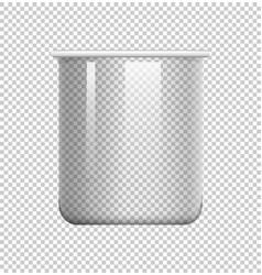 Round beaker on transparent background vector