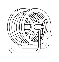Hose reel icon vector
