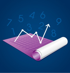 Business graph on paper vector
