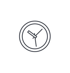 Clock time watch thin line icon linear vector
