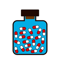 Bottle with a medicine tablets vector