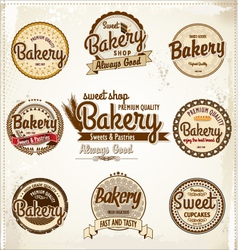 Bakery badges and labels vector