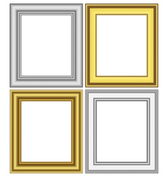 Golden and silver frames vector