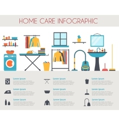 Home care and housekeeping infographic vector