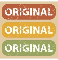Vintage original stamp set vector