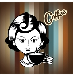 drink coffee vector image