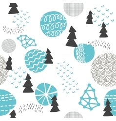 Seamless pattern in modern scandinavian style vector