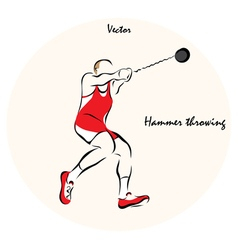 Hammer throwing vector