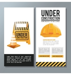 Flat about under construction design vector