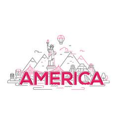 America - line travel vector