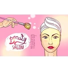 Beauty salon makeup vector