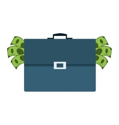briefcase full of money icon vector image