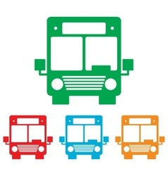 Bus sign colorfull set vector