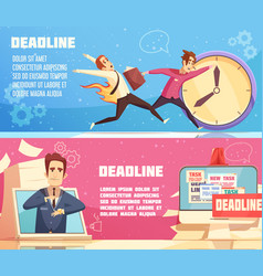 business work deadline horizontal banners vector image
