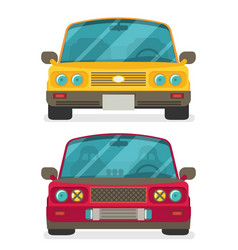 car front view race car tuning colorful of vector image vector image