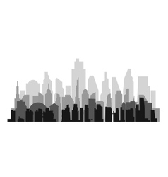 Cityscape background with aerial vector