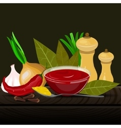 Condiments and spices vector