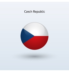 Czech Republic round flag vector image