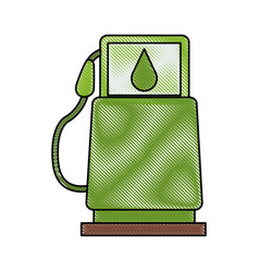 eco fuel gas station vector image