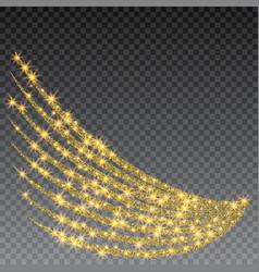 Festive explosion of confetti gold glitter vector