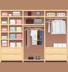 flat design walk in closet vector image