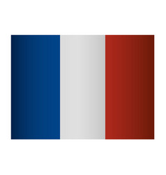french flag emblem vector image