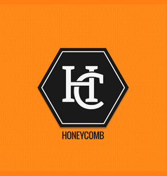 honey comp logo design h and c letters vector image