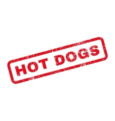 Hot dogs text rubber stamp vector