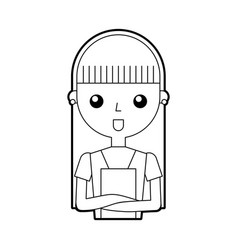 Housewife avatar character icon vector