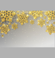 huge golden snowflakes vector image