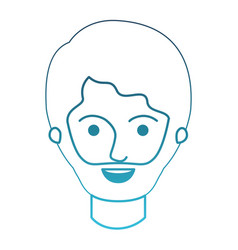 Male face with short hair and beard in degraded vector