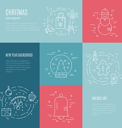 Minimalistic Christmas and New Year Designs vector image vector image