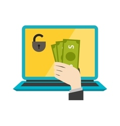 Money safety internet safety vector