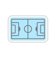Paper sticker on white background football field vector