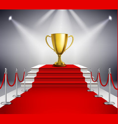 Red Carpet With Trophy vector image