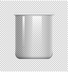 Round beaker on transparent background vector