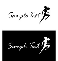 running woman business card concept vector image