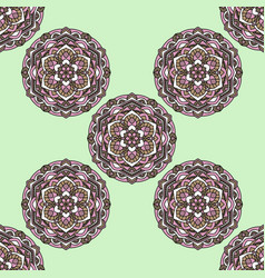Seamless pattern on a green background vector