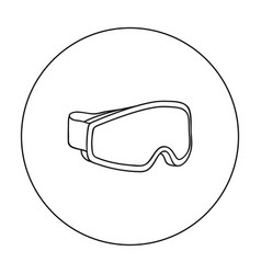 Ski goggles icon in outline style isolated on vector