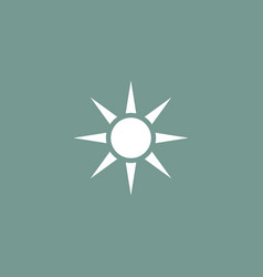 sun icon simple vector image vector image