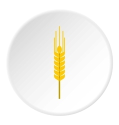 Spikelet of wheat icon flat style vector