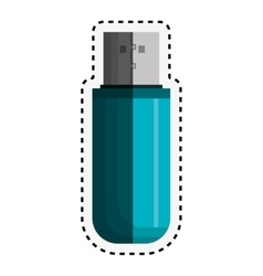 Memory usb isolated icon vector