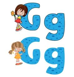 letter G girl vector image