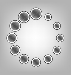Circular loading sign  pencil sketch vector
