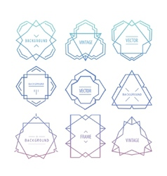 Trendy retro vintage insignias bundle vector