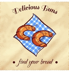 Bread on a napkin 7 vector