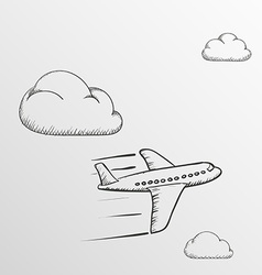 Doodle airplane stock vector