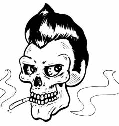 Rock n' roll skull vector